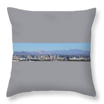 San Diego Pano Throw Pillow