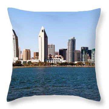 San Diego Panorama Throw Pillow by Paul Velgos