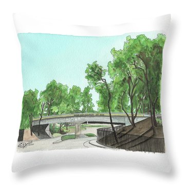 San Diego Recruit Depot Welcome Throw Pillow