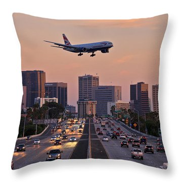 San Diego Rush Hour  Throw Pillow