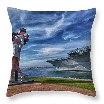 San Diego Sailor Throw Pillow