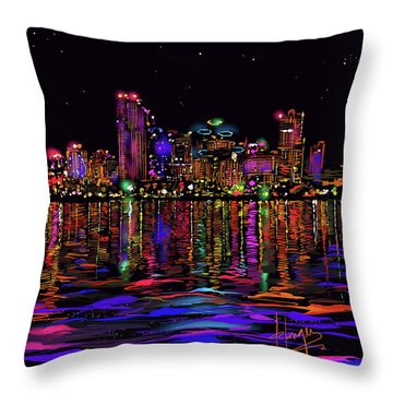 San Diego Stars Throw Pillow