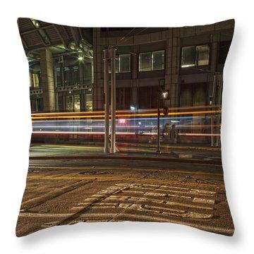 San Diego Trolly Throw Pillow