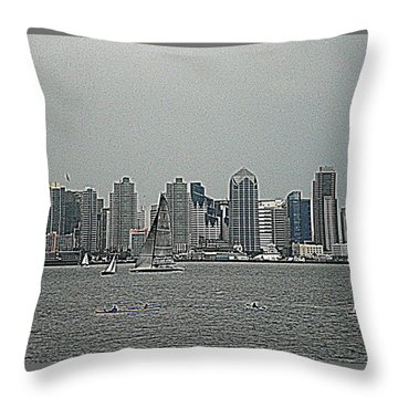 San Diego Waterfront Throw Pillow
