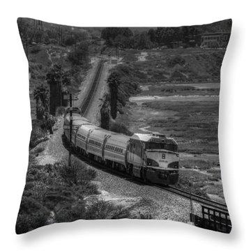 San Elijo Amtrak Throw Pillow