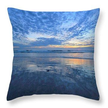 San Elijo Blue Throw Pillow