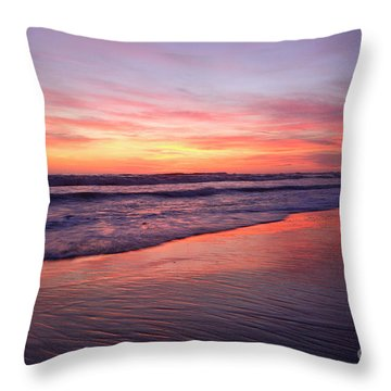 Throw Pillow featuring the photograph San Elijo Spirit by John F Tsumas