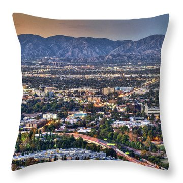 San Fernando Valley Vertical Throw Pillow by David Zanzinger