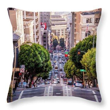 San Fran Cable Car Throw Pillow