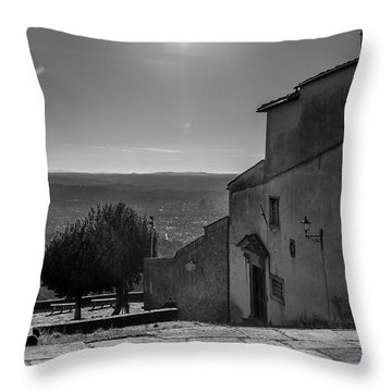 Throw Pillow featuring the photograph San Francesco Monastery - Fiesole, Italia. by Sonny Marcyan