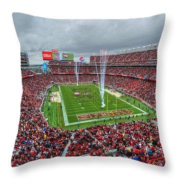San Francisco 49ers Levi's Stadium Throw Pillow