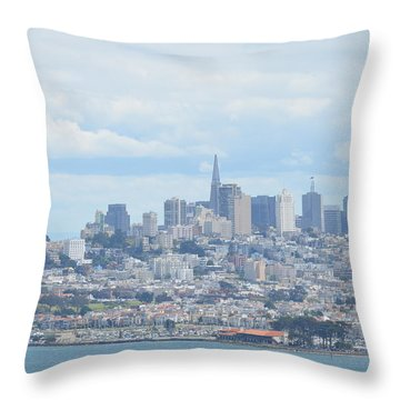 Throw Pillow featuring the photograph San Francisco by Alex King