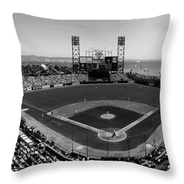 San Francisco Ballpark Bw Throw Pillow