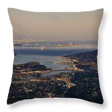San Francisco Bay Area Throw Pillow