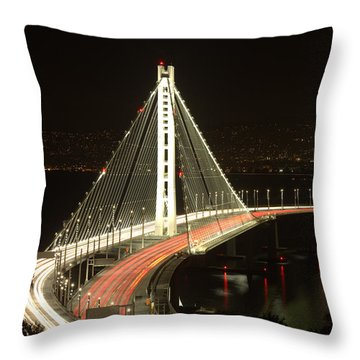 San Francisco Bay Bridge New East Span Throw Pillow