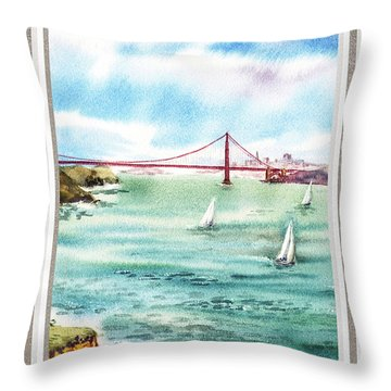 San Francisco Bay View Window Throw Pillow