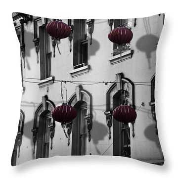 San Francisco Chinatown Throw Pillow by Larry Butterworth