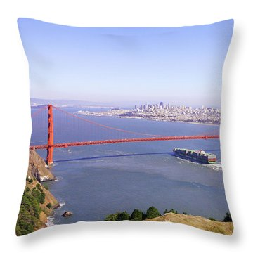 Throw Pillow featuring the photograph San Francisco - City By The Bay by Art Block Collections