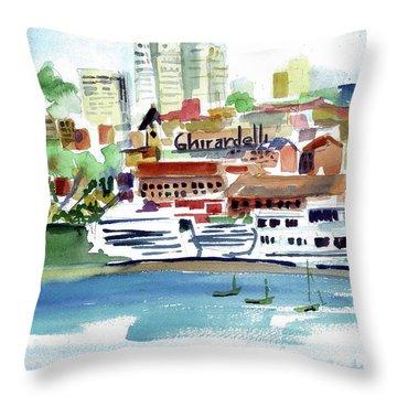San Francisco Cityfront From Aquatic Park Throw Pillow