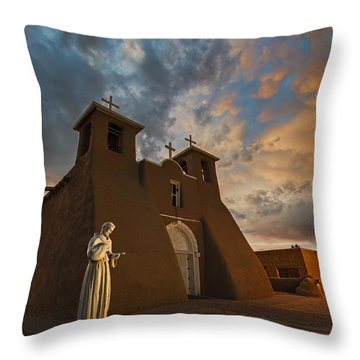 San Francisco De Assisi Mission Throw Pillow