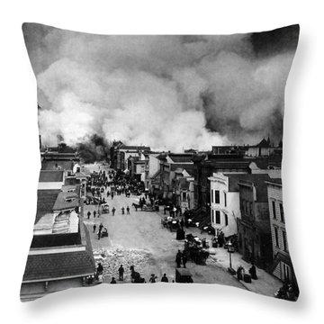 San Francisco Earthquake Aftermath - 1906 Throw Pillow