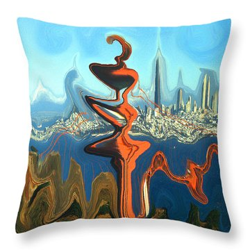 San Francisco Earthquake - Modern Artwork Throw Pillow