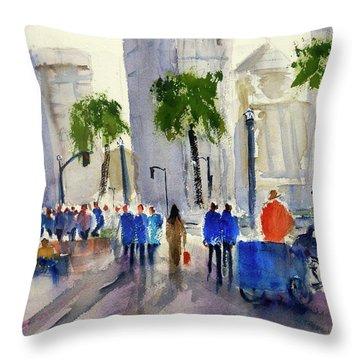 San Francisco Embarcadero Throw Pillow