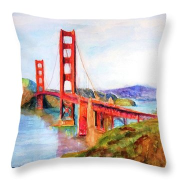 San Francisco Golden Gate Bridge Impressionism Throw Pillow