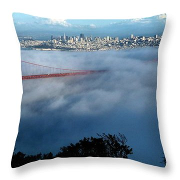 San Francisco Golden Gate Bridge Panoramic  Throw Pillow