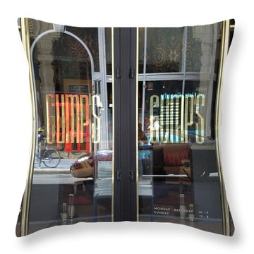 San Francisco Gumps Department Store Doors - Full Cut - 5d17094 Throw Pillow