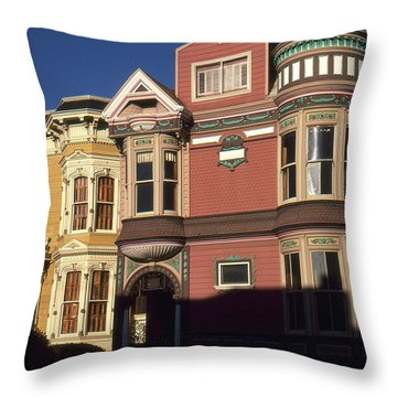 San Francisco Haight Ashbury - Photo Art Throw Pillow