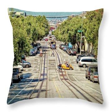 San Francisco Hyde Street View Throw Pillow