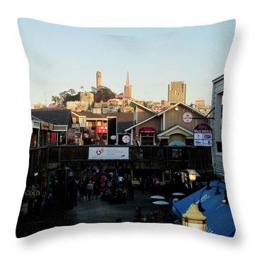 San Francisco In The Sun Throw Pillow