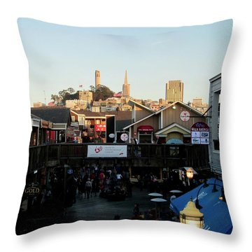 San Francisco In The Sun Throw Pillow by Tony Mathews