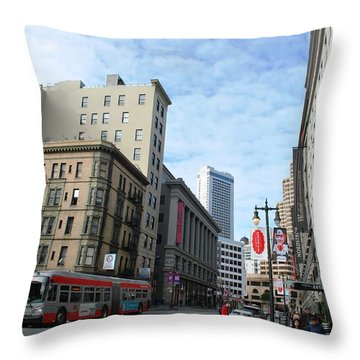 San Francisco - Jessie Street View Throw Pillow
