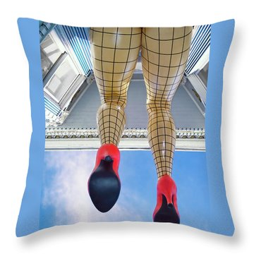San Francisco Legs - Haight Ashbury Throw Pillow