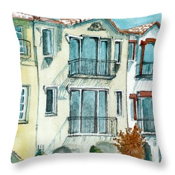 Throw Pillow featuring the painting San Francisco by Lynn Babineau