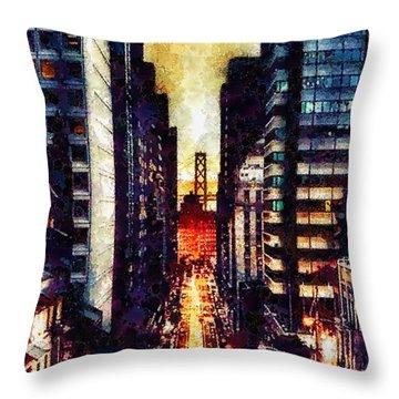 San Francisco Throw Pillow by Mo T