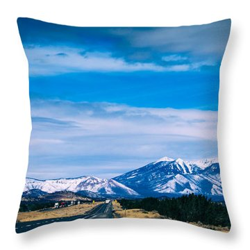 San Francisco Mountain Throw Pillow