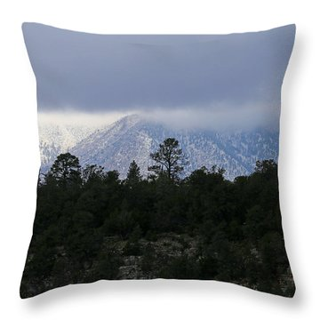 San Francisco Mountains From Walnut Canyon Throw Pillow