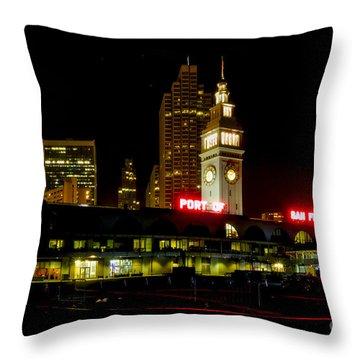 San Francisco Nights Throw Pillow by Mitch Shindelbower