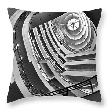 San Francisco - Nordstrom Department Store Architecture Throw Pillow
