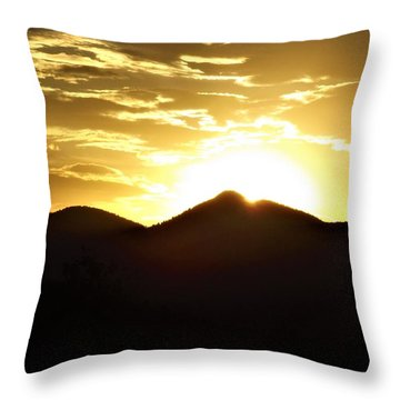 San Francisco Peaks At Sunset Throw Pillow