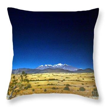 San Francisco Peaks Throw Pillow by Jerry Bokowski
