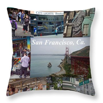 Throw Pillow featuring the photograph San Francisco Poster by Joan Reese