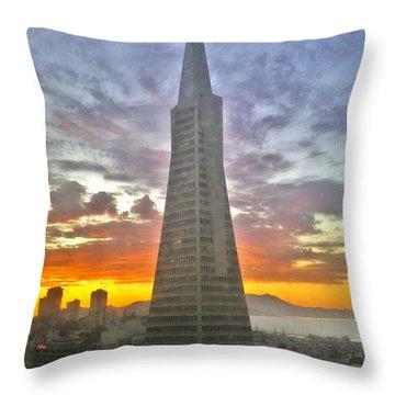 San Francisco Pyramid Throw Pillow