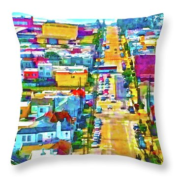 San Francisco Quintara View Throw Pillow