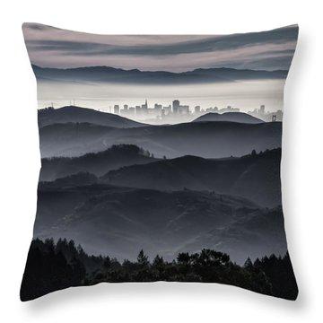 San Francisco Seen From Mt. Tamalpais Throw Pillow