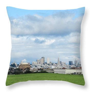 San Francisco Skyline From Crissy Field Throw Pillow