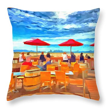 San Francisco Skyline From Alameda  Throw Pillow